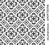 seamless pattern with american... | Shutterstock .eps vector #690978598