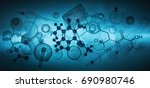 science or laboratory background | Shutterstock . vector #690980746