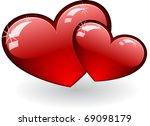 hearts | Shutterstock .eps vector #69098179