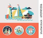 vector illustration in flat... | Shutterstock .eps vector #690985306