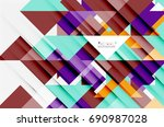 triangle pattern design... | Shutterstock . vector #690987028