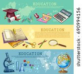 education. back to school.... | Shutterstock .eps vector #690994156
