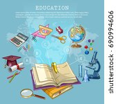 education and science. back to... | Shutterstock .eps vector #690994606