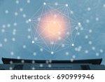 modern and wireless sensor... | Shutterstock . vector #690999946