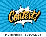 contest lettering text banner.... | Shutterstock .eps vector #691002985