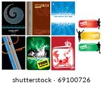 backgrounds set with copyspace... | Shutterstock .eps vector #69100726