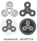 set of different hand fidget... | Shutterstock .eps vector #691007716