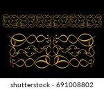 golden  ornamental segment  ... | Shutterstock . vector #691008802