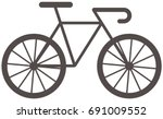 sport bicycle icon | Shutterstock .eps vector #691009552