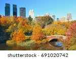 manhattan central park with... | Shutterstock . vector #691020742
