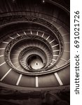 spiral staircase in vatican... | Shutterstock . vector #691021726