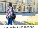 first day at university for...   Shutterstock . vector #691025086