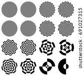 set of optical circles.... | Shutterstock .eps vector #691027315