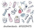 vector illustration of a cute... | Shutterstock .eps vector #691029475