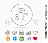dialog icon. chat speech... | Shutterstock .eps vector #691030342