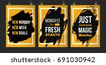 monday typography quote set.... | Shutterstock .eps vector #691030942