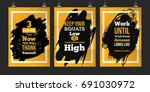 success poster set for wall.... | Shutterstock .eps vector #691030972