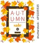 autumn sale vintage vector... | Shutterstock .eps vector #691035535