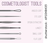 cosmetologist tools kit....   Shutterstock .eps vector #691048435