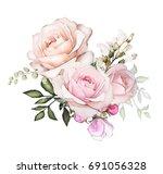 Watercolor Flowers. Floral...