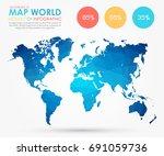 infographics   polygonal... | Shutterstock .eps vector #691059736