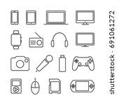 vector image of set of devices... | Shutterstock .eps vector #691061272