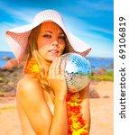 paradise model beach   Shutterstock . vector #69106819