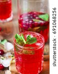 fresh cranberry juice from the... | Shutterstock . vector #691068256