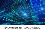 pioneering 3d rendering of a... | Shutterstock . vector #691073002