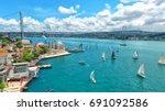istanbul bosphorus bridge ... | Shutterstock . vector #691092586