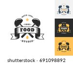 vintage kitchen logo design...   Shutterstock .eps vector #691098892