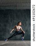 young beautiful dancer is... | Shutterstock . vector #691102672