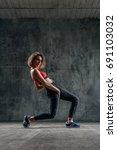 young beautiful dancer is... | Shutterstock . vector #691103032