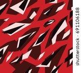 seamless futuristic fashion red ... | Shutterstock .eps vector #691106188