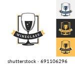 vintage drink logo design...   Shutterstock .eps vector #691106296