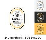 vintage beer logo design...   Shutterstock .eps vector #691106302