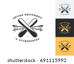 vintage ski logo design...   Shutterstock .eps vector #691115992