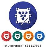 round icon of  billiards. table ... | Shutterstock . vector #691117915
