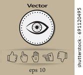 eye. icon. | Shutterstock .eps vector #691120495