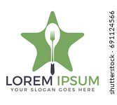 food logo design. | Shutterstock .eps vector #691124566