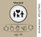 flat icon family.  | Shutterstock .eps vector #691127662