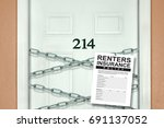 renters insurance policy... | Shutterstock . vector #691137052