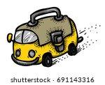 cartoon image of school bus. a...