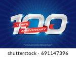 100 years anniversary... | Shutterstock .eps vector #691147396