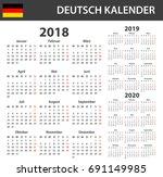 german calendar for 2018  2019... | Shutterstock .eps vector #691149985