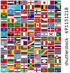 a horizontal flag set with the...   Shutterstock .eps vector #691151218