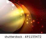glowing wave created with... | Shutterstock .eps vector #691155472