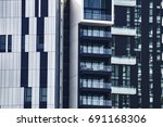 a close up view on the facade... | Shutterstock . vector #691168306