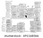cartoon illustration of stick...   Shutterstock .eps vector #691168366
