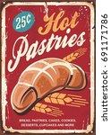pastries bakery sign. bread ...   Shutterstock .eps vector #691171786
